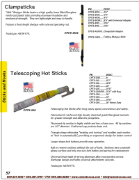 Catalog Sticks, Hooks, Grounding, Meters & Detectors