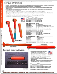 Catalog Torque Wrenches & Drivers